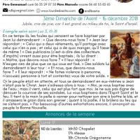Annonces de la 3ème semaine de l'Avent (1)