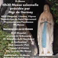 Neuvaine et Fête de Notre-Dame de Lourdes