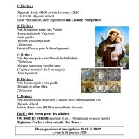 Pèlerinage à Padoue en février 2020