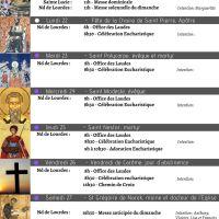 Programme de la Semaine du 21/02 au 28/02/21