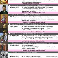 Programme du 07/02 au 14/02/21, avec la Fête de Notre Dame de Lourdes le 11/02/21
