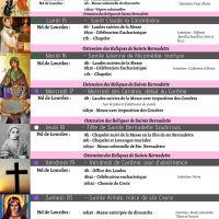 Programme de la Semaine du 14/02 au 21/02/2021, avec le début du Carême et la Messe solennelle de clôture de la vénération des Reliques de Sainte Bernadette
