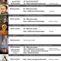 """Programme de la Semaine du 07/03 au 14/03/2021. Attention spéciale pour les """"24h pour Dieu"""" le vendredi 12/03 de 8h à 17h30 (modalité adaptée au couvre-feu)."""