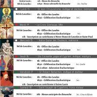Programme de la semaine du 12 au 19/09/2021